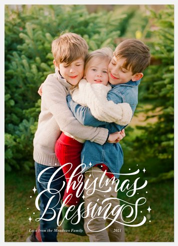 Spirited Blessings Holiday Photo Cards