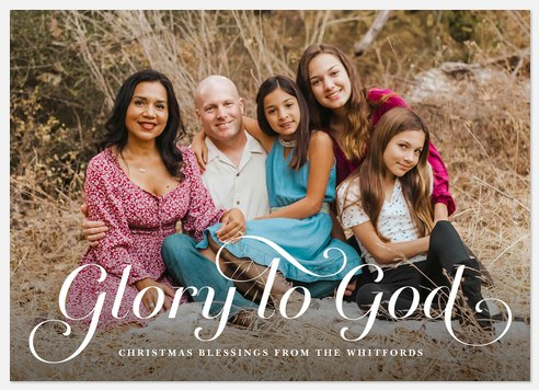 Elegant Glory Holiday Photo Cards