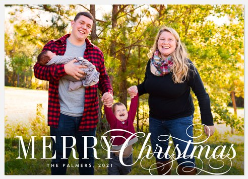 Ice Skater Holiday Photo Cards