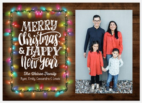 Twinkling Lights Holiday Photo Cards