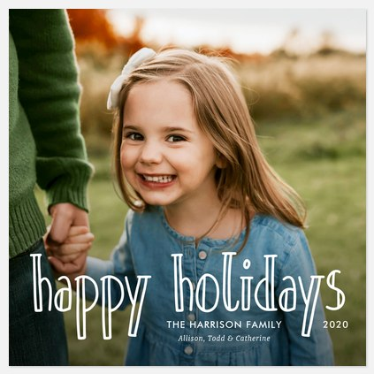 Delightful Whimsy Holiday Photo Cards