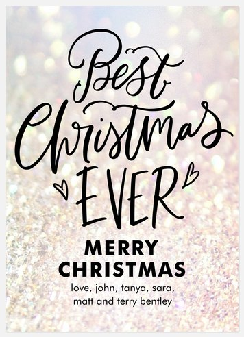 Best Sparkle Holiday Photo Cards