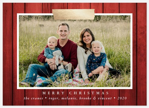 Washi Barnwood Holiday Photo Cards