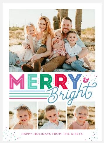 Merry Rainbows Holiday Photo Cards