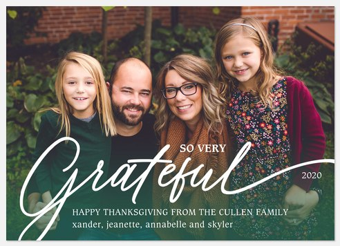 Oh So Grateful Thanksgiving Cards