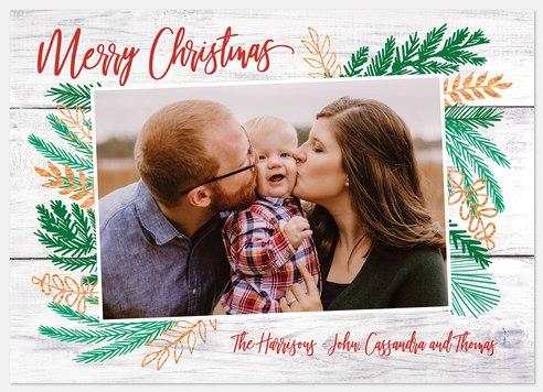 Festive Sprigs Holiday Photo Cards