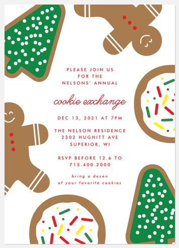 Cookie Craze Holiday Party Invitations