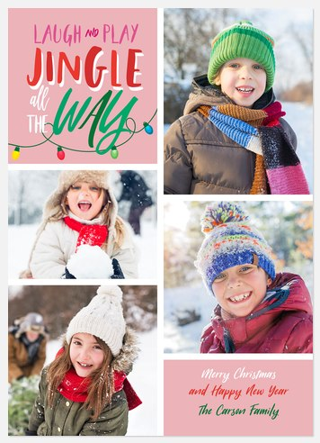 Whimsical Jingle Holiday Photo Cards