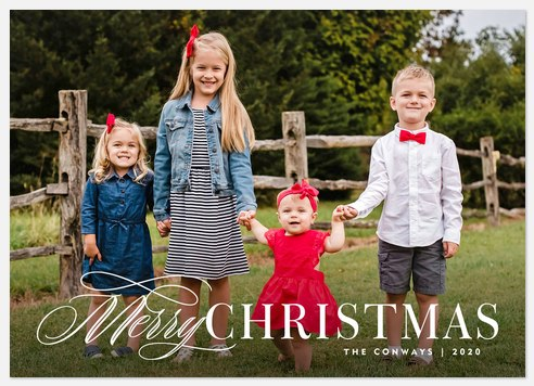 Fanciful Mix Holiday Photo Cards