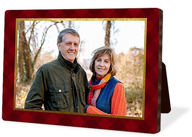 Glitzy Gingham Photo Easel Panels