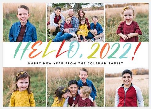 Hello Rainbow Holiday Photo Cards