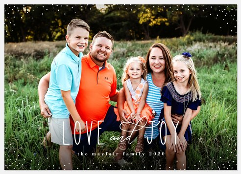 Snow Sparkle Holiday Photo Cards