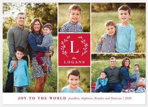 Family Monogram Holiday Photo Cards