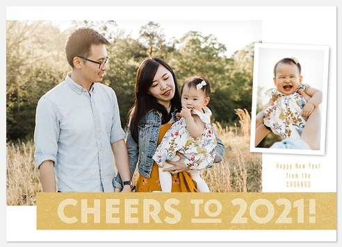 Cheers Banner Holiday Photo Cards