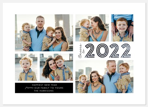 Inline Year Holiday Photo Cards