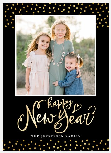 Shimmering Confetti Holiday Photo Cards