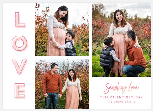 Sparking Love Valentine Photo Cards