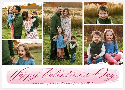 Brushed Love Valentine Photo Cards