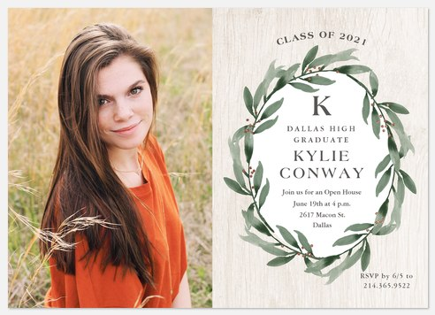 Rustic Wreath Graduation Cards