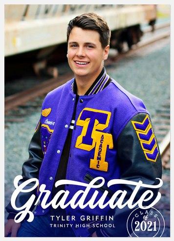 Marker Script Graduation Cards