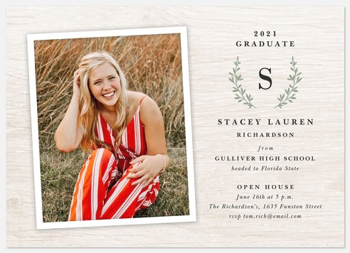 Heritage Monogram Graduation Cards