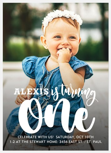 Turning One Kids' Birthday Invitations