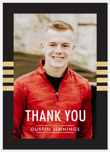 Collegiate Stripes Thank You Cards