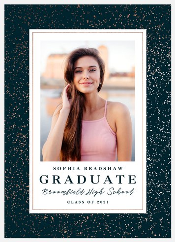 Gold Flecked Graduation Cards