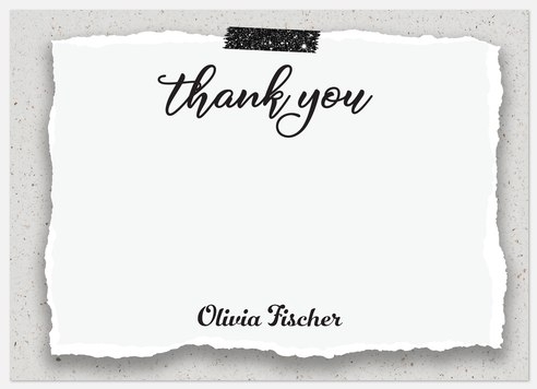 Rustic Paper Thank You Cards