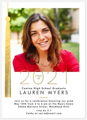 Gilded Tassel Graduation Cards