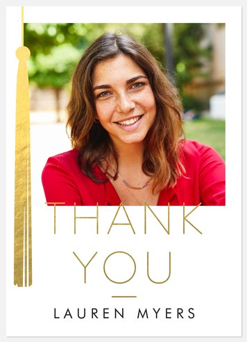 Gilded Tassel Thank You Cards