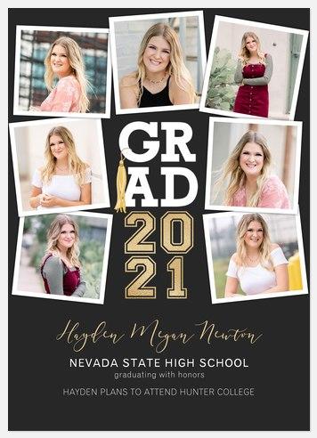Grad Tassel Collage Graduation Cards