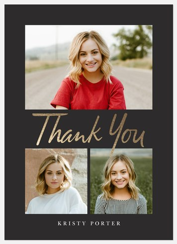 Festive Gallery Thank You Cards