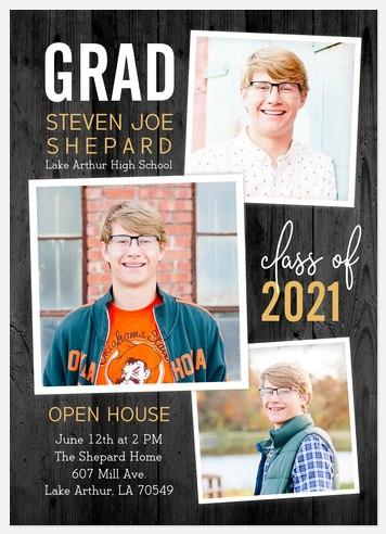 Rustic Trio Graduation Cards