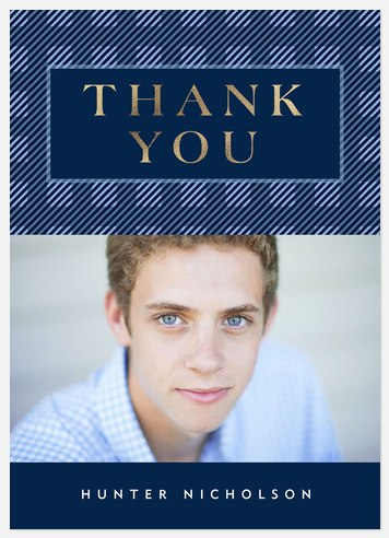 Bold Plaid Thank You Cards