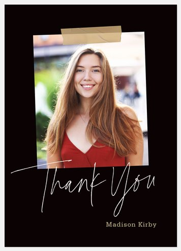 Typographic Blend Thank You Cards