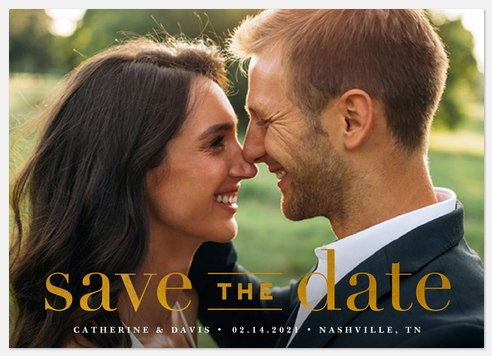 Classic Type Save the Date Photo Cards