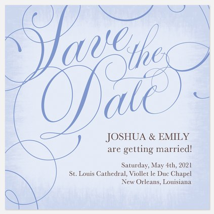 Somerset Rose Save the Date Photo Cards