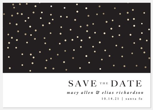 Dotted  Save the Date Photo Cards