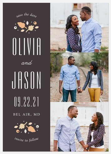 Splendid Foliage Save the Date Photo Cards