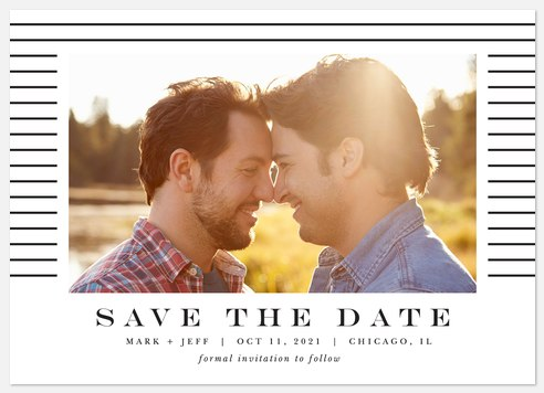 Uptown Stripes Save the Date Photo Cards