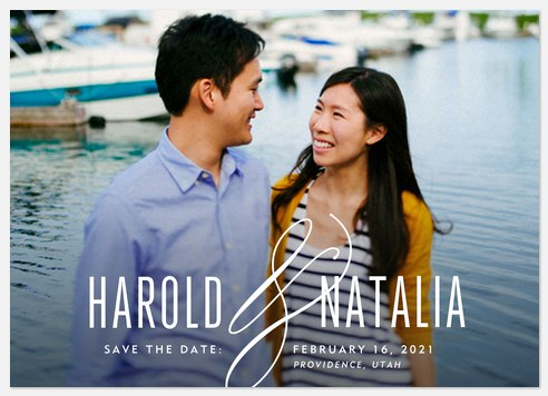 Distinguished Ampersand  Save the Date Photo Cards