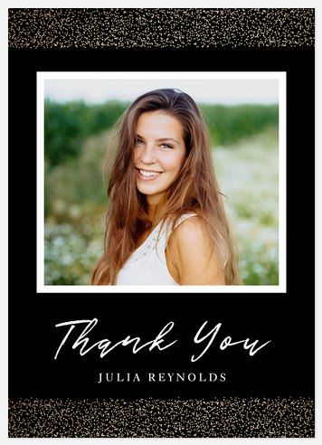 Glamourous Shine Thank You Cards