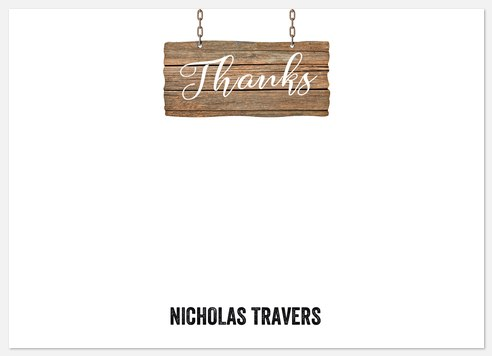 Country Sign Thank You Cards