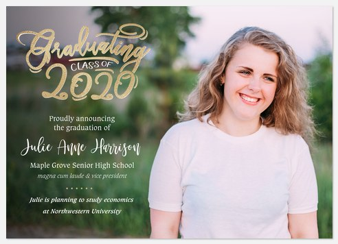 Calligraphic Whimsy Graduation Cards