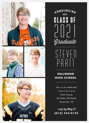 Collegiate Stack Graduation Cards