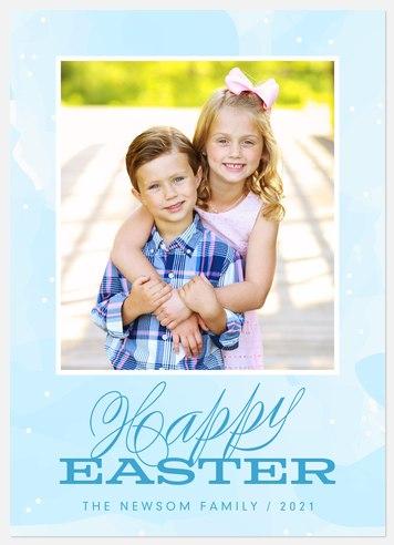 Robin's Egg Easter Photo Cards