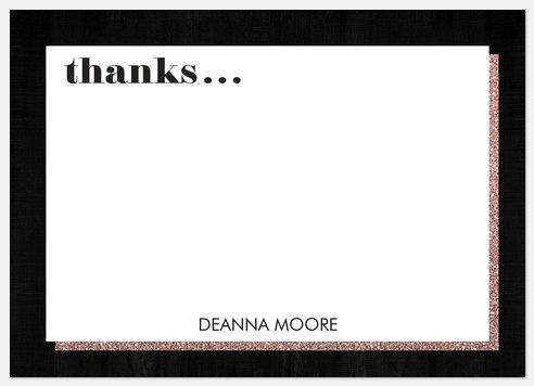 Glam Sparkles Thank You Cards