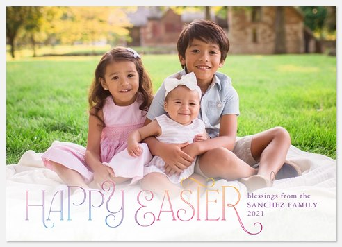 Pastel Gradient Easter Photo Cards