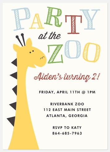 Go Wild Kids' Birthday Invitations